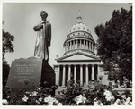 Photograph of Abraham Lincoln Walks at Midnight Statue