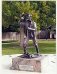 Photograph of A. Lincoln Deputy Surveyor, Sangamon County, Illinois 1833-1837 Statue
