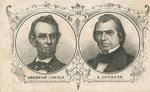 Abraham Lincoln and Andrew John CDV Engraved Portraits