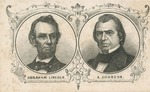 Abraham Lincoln and Andrew Johnson CDV Engraved Portraits