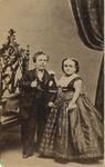 Standing Portrait of Charles Sherwood Stratton and Lavinia Warren
