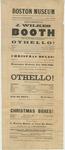 John Wilkes Booth: 1863 Boston Museum Playbill for Othello