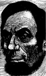 Signed Jim Dobbins Abraham Lincoln Cartoon [framed]
