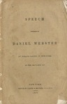 Speech delivered by Daniel Webster at Niblo's saloon, in New York, on the 15th March, 1837.