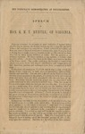The Democratic demonstration at Poughkeepsie: Speech of Hon. R.M.T. Hunter, of Virginia.