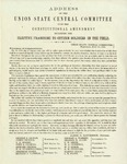 Address of the Union State Central Committee upon the constitutional amendment extending the elective franchise to citizen soldiers in the field: Union State Central Committee, July 27, 1864