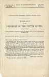 Captain John Rodgers, United States Navy: message of the President of the United States, recommending a vote of thanks to Captain Rodgers for eminent skill and zeal in discharge of his duties