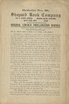 Original Lincoln proclamation burned.