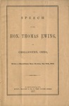 Speech of the Hon. Thomas Ewing, at Chillicothe, Ohio, before a Republican mass meeting, September 29th, 1860.