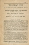 The great issue to be decided in November next!: shall the Constitution and the Union stand or fall? : shall sectionalism triumph? : Lincoln and his supporters : behold the record!.