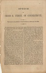 Speech of Orris S. Ferry, of Connecticut: Delivered in the House of Representatives, February 10, 1860.