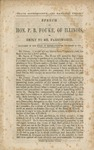 State sovereignty and national union: speech of Hon. P.B. Foulke, of Illinois in reply to Mr. Farnsworth, delivered in the House of Representatives, December 24, 1859.
