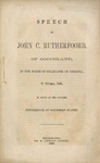 Speech of John C. Rutherfoord, of Goochland: in the House of Delegates of Virginia, 21 February, 1860, in favor of the proposed conference of southern states.