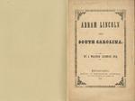 Abram Lincoln and South Carolina