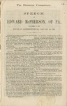 The disunion conspiracy: speech of Edward McPherson, of Pa., delivered in the House of Representatives, January 23, 1861.
