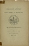 President Lincoln and the Chicago Memorial of Emancipation: a Paper Read before the Maryland Historical Society December 12th, 1887