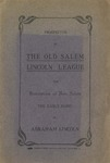 Prospectus of the Old Salem Lincoln League for restoration of New Salem, the early home Abraham Lincoln.