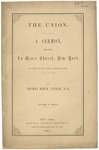 The Union: a Sermon Delivered in Grace Church, New York, on the Day of the National Fast, January 4, 1861