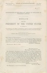 Distribution of rewards for arrest of assassins of President Lincoln. Message ... Mar. 5, 1866.