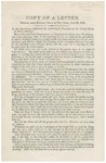 Copy of a Letter Written from Buffalo, State of New York: July 23, 1862, to His Excellency, Abraham Lincoln, President of the United States of North America.