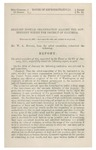 Alleged Hostile Organization Against the Government within the District of Columbia: February 14, 1861, Laid Upon the Table, and Ordered to be Printed.