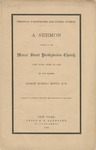 Personal Forgiveness and Public Justice: a Sermon Preached in the Mercer Street Presbyterian Church, New York, April 23, 1865