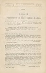 Peace: Message from the President of the United States, Transmitting in Compliance with the Resolution of February 8, 1865, Information Relative to a Conference Held at Hampton Roads with Mssrs. A.H. Stephens, R.M.T. Hunter, and J.A. Campbell.