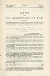 Letter from the Secretary of War, Transmitting, in Compliance with Law, Certain Information Relative to the Negotiation with the Legal Representatives of the late Confederate Generals Bragg and Polk for the Purchase of Certain Papers Relating to the Late War.