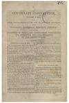 Cincinnati Convention, October 18, 1864 :for the Organization of a Peace Party, upon State-rights, Jeffersonian, Democratic principles, and for the Promotion of Peace and Independent Nominations for President and Vice-President of the United States.