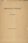 Abraham Lincoln :an Address Before the Commandery of the State of Colorado, Military Order of the Loyal Legion of the United States