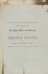 Abraham Lincoln: a Paper Read before the Royal Historical Society, London, June 16th, 1881.