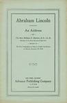 Abraham Lincoln :An Address
