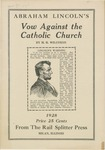 Abraham Lincoln's vow against the Catholic Church
