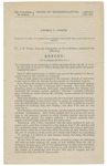 George P. Fisher: February 13, 1874. -- Committed to a committee of the whole house and ordered to be printed... Report [from] the Committee on the judiciary, to whom was referred the bill (H. R. 1171) for the relief of George P. Fisher, having had the same under advisement repectfully report.