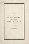 Proceedings of the City Council of Baltimore: in Relation to the Death of Abraham Lincoln, Late President of the United States.