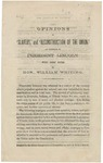 Opinions on 'Slavery,' and 'Reconstruction of the Union, ' as Expressed by President Lincoln. / With brief notes by Hon. William Whiting.