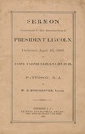 Sermon Occasioned by the Assassination of President Lincoln: Delivered April 16, 1865 in First Presbyterian Church of Paterson, N.J.