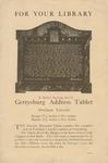 Gettysburg Address Tablet: Abraham Lincoln.