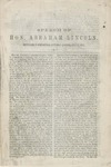 Speech of Hon. Abraham Lincoln delivered in Springfield :Saturday evening, July 17, 1858.
