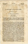 In the Senate of the United States ... Mr. Green made the Following Report (to Accompany Bill S.161) /the Committee on Territories, to Whom was Referred the Message of the President, Communicating a Constitution for Kansas.