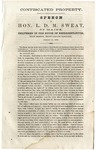 Confiscated Property: Speech of Hon. L.D.M. Sweat, of Maine, Delivered in the House of Representatives, First Session, Thirty-Eighth Congress, January 20, 1864.