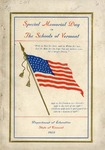 Selections for Commemorative Exercises of Special Memorial Day in the Schools of Vermont /prepared and issued by Walter E. Ranger.