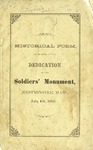 Historical Poem, to be Read at the Dedication of the Soldiers' monument, in Westminster, Mass., July 4th, 1868