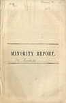 Minority report of the Kansas Investigating Committee of the House of Representatives by Hon. Mordecai Oliver, of Missouri. Washington 1856.