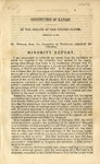 Constitution of Kansas : In the Senate of the United States February 18, 1858 /Mr. Douglas from the Committee on Territories submitted the following minority report.