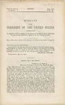Message of the President of the United States : Communicating, in Compliance with a Resolution of the Senate of the 27th of April, Information in Regard to the Condition of Affairs in the Territory of Nevada.