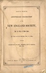 Anniversary celebration of the New England Society in the City of New York.