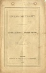 English Neutrality : Is the Alabama a British pirate.