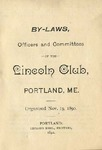 By-laws, Officers and Committees of the Lincoln Club, Portland, ME.