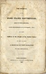 Journal of the Free Trade Convention, held in Philadelphia from Sept. 30 to Oct. 7, 1831: and their address to the people of the United States, to which is added a sketch of the debates in the convention.